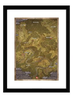 Framed poster - Kingdom Come: Deliverance - MAP